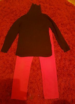 Girls top and trousers set age 6