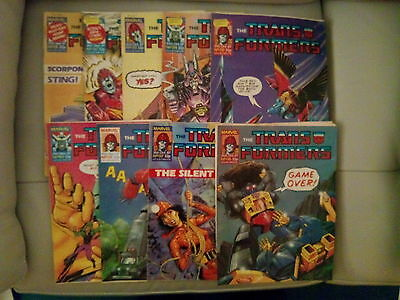 10 Off The Transformers Comics #131-140 From Sept / Nov 1987