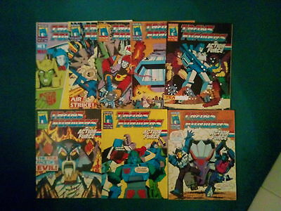 9 Off The Transformers Comics #221, 223/230 From June / August 1989