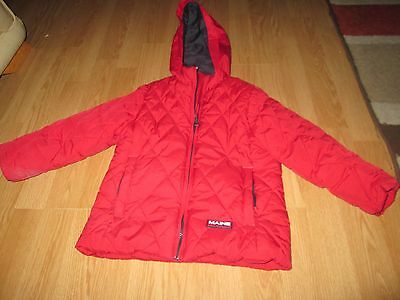 kids coat /jaket by maine new england age 3-4 years in red vgc