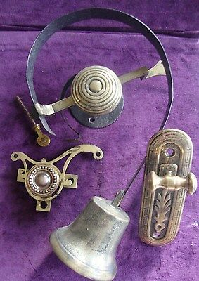 Antique complete Mid victorian  bell pull system