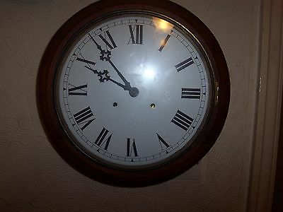 Lovely Large Round American Waterbury Clock Co,school/station Wall Clock
