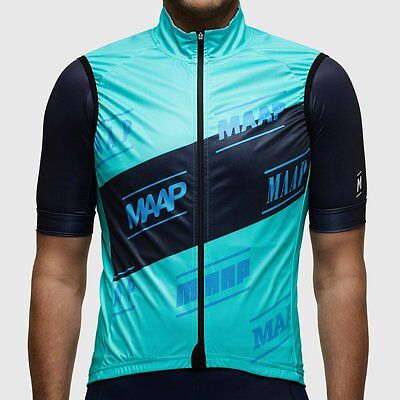 MAAP Sash Race Cycling Vest / Gilet Aqua Blue Men