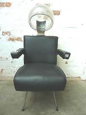 1960s 50s VINTAGE INDUSTRIAL RETRO GAMING BARBERS HAIRDRESSING FILM PROP CHAIR