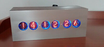 Röhren NIXIE IN-4 CLOCK RUSSIAN Led Backlight - NEW TUBES - HAND MADE