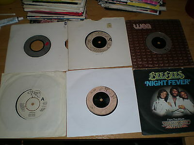 """Job Lot 6 Bee Gees  Hits Vinyl 7"""" Collection"""
