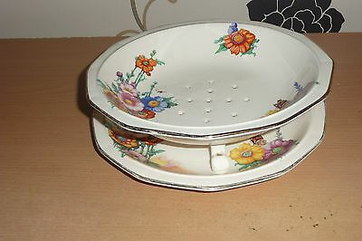 Perfect Keeling & Co Losal Ware Art Deco Drainer With Dish
