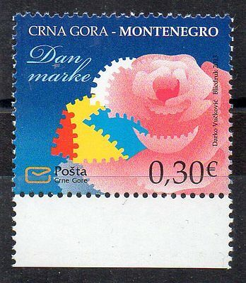 Stamps - Montenegro - Stamp Day - Flowers - 2013 -