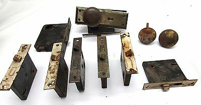 vintage brass door knobs/locks/latches/hardware lot