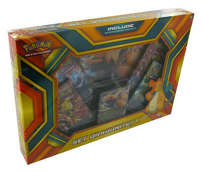 Box Pokemon SET DRAGONITE EX + Carta Gigante + 4 Buste ITA