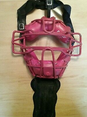 Vintage Cooper  Umpire Catchers Leather Mask w/ Throat Guard UM2 RED
