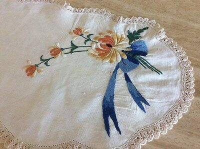 Bulk Dressing Table Runners Or Doilies Embroidered And Crocheted