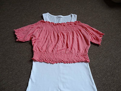 Summer set of two tops for girls 8-10 years