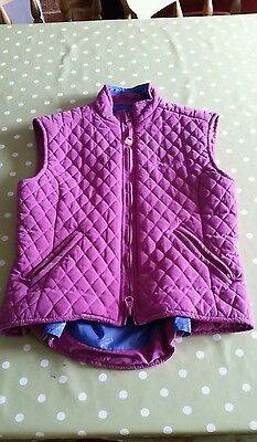 girls riding gillet/body warmer 8 to 10