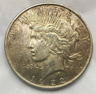 (3) 1922 Peace Dollar Silver $1 US Coins - Lot of 3 coins