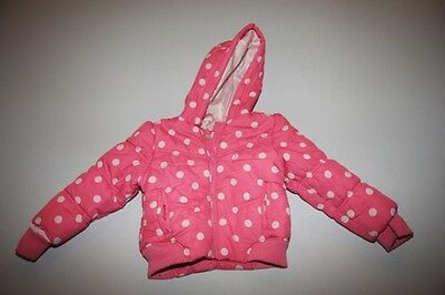 John Lewis girls pink and white spotted coat - age  4 years