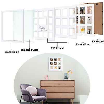 BABY FRAMES COLLECTION, 16x16-inch My First Year Baby Photo Wood ...