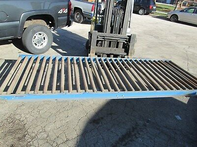 "Lewco Conveyor Gravity feed 45"" wide x 9'9"" Long 2"" Dia. Rollers"