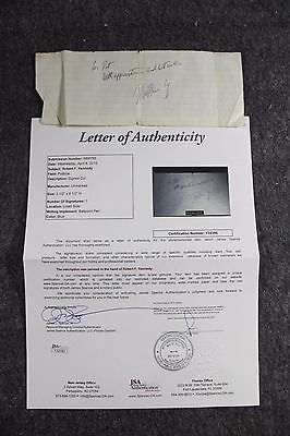 Vintage Robert F. Bobby Kennedy Signed Cut JSA Authenticated Political
