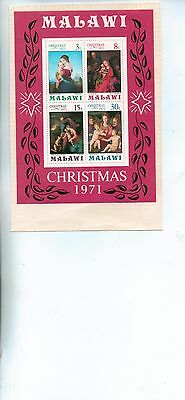 Malawi 1971 Christmas Miniature Sheet Ms 407 Mnh