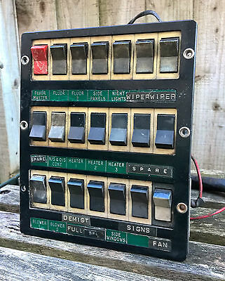 AEC Reliance Dash Board Control Panel Switches Circa 1950's Bus Coach Part