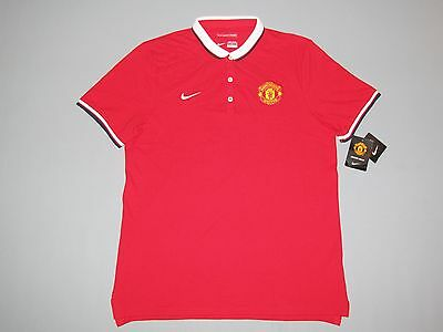 Nike New Jersey Manchester United Polo Shirts Size L