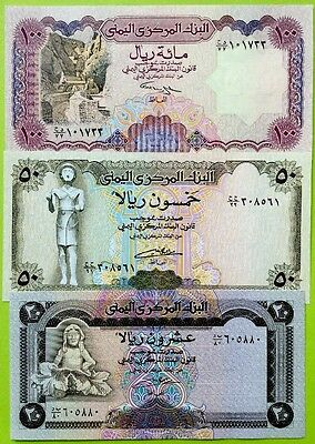 YEMEN 1990s EDITION 20 50 100 Rials GREAT SET OF UNCIRCULATED BANKNOTES