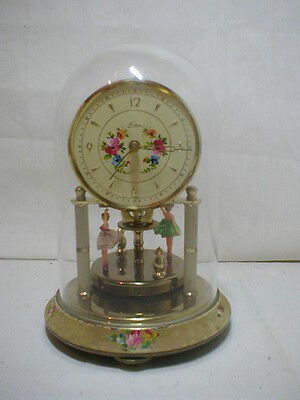 vintage mechanical dome clock twirling ballerinas germany either kein or kern ?