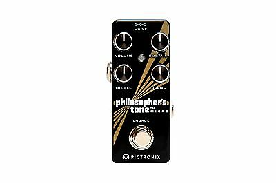 Pigtronix Philosopher's Tone Micro Sustain Distortion Guitar Effects Pedal PTM