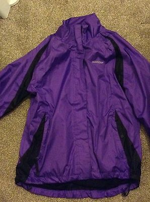 Ladies Purple Running/cycling Jacket High Viz Size 14 Muddy Fox