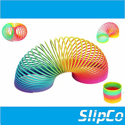 Colorful Rainbow Plastic Magic Spring Slinky Bouncy Children Development Toy uk