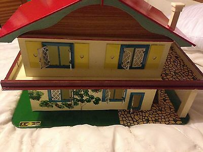 Collectible Vintage 70's Alpine Style Wooden Dolls House