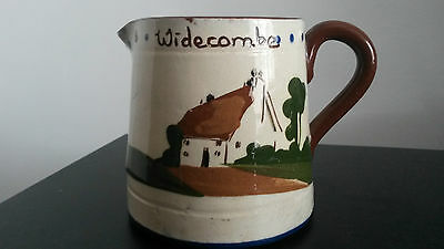 "Devon Mottoware Jug Approx 3"" high Perfect - WIdecombe plus Motto"