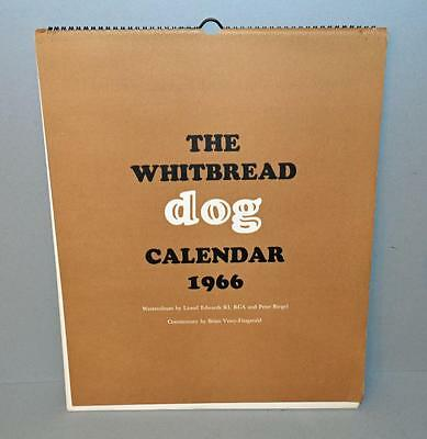 Old Whitbread Brewery Calendar For 1966 - Dogs .Excellent Artwork.