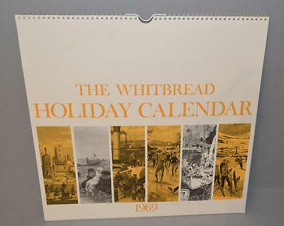 Old Whitbread Brewery Calendar For 1969 - Holidays - Excellent Artwork.