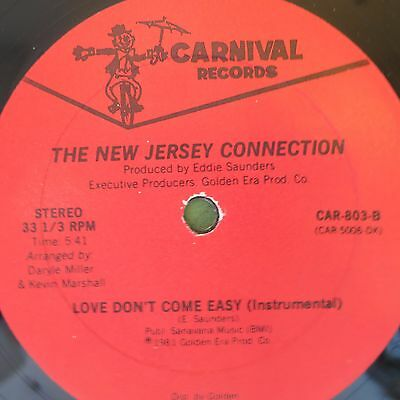 ☆ Near Mint - The New Jersey Connection  Love Don't Come Easy CARNIVAL RECORDS