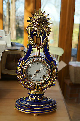 """Marie Antoinette"" Lyre clock with ting-tang strike."