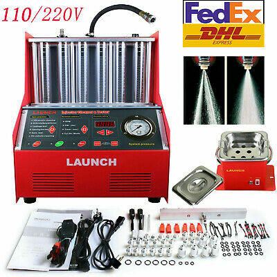 Launch CNC602A 6-cylinder 110V Ultrasonic Fuel Injector Cleaner Tester US Stock