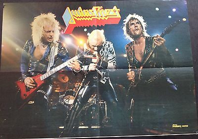 Judas Priest Vintage Rock Poster From Early 1980's