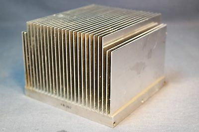 """3 Lb 4.75"""" x 5"""" x 5"""" Quality Natural Aluminum Heat Sink Great for all Devices"""