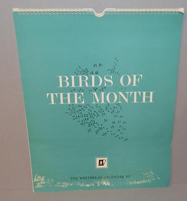 Old Whitbread Brewery Calendar For 1977 - Birds Of The Month.