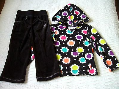 Hooded Fleece Top 3 Year Jumping Beans & New Velour Trousers 2-3 Yr.evie Angel