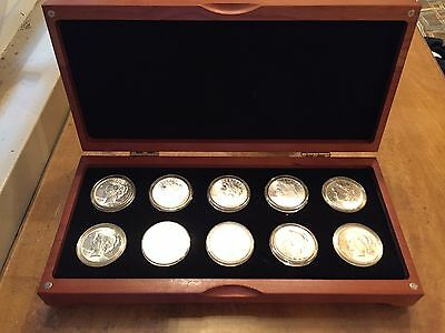 Maple Wood Case for 10 Airtite Silver Dollars/ Eisenhower Coin