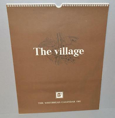 Old Whitbread Brewery Calendar For 1981 - The Village .