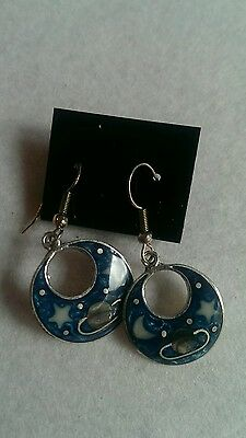 Lot of Alpaca Silver Earrings with mother of pearl