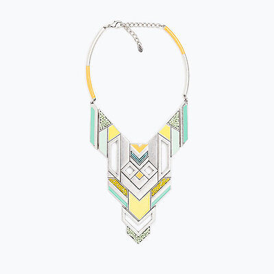 Zara Yellow Turquoise Silver Ethnic Necklace Boho Sold Out