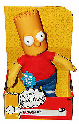 The Simpsons Talking Bart Simpson 12 Inch Plush Toy