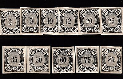 mexico 1875 Numeral stamps