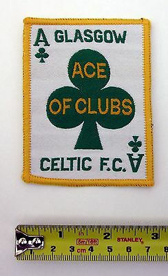 CELTIC FC - Ace of Clubs - 1970s Retro Woven/Embroidered Patch