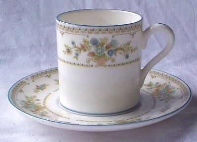 "Wedgwood  "" Petersham "" Pattern Coffee Cup And Saucer"